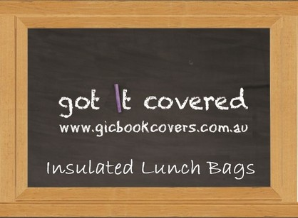 Black Board Insulated Lunch Bags