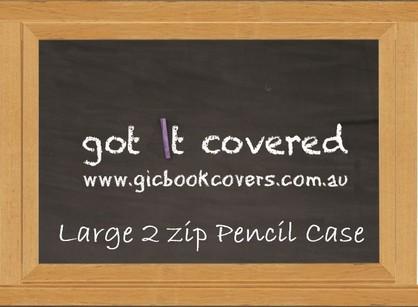Black Board Large 2 Zip Pencil Case