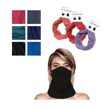 Pull Up Face Covers Dark 6 Assorted