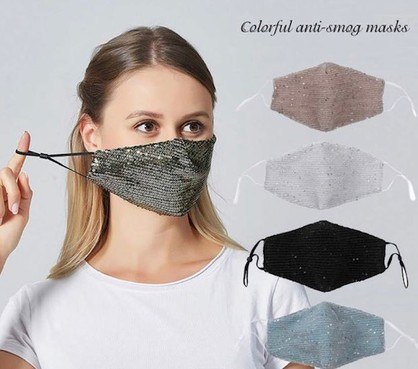 Bling Luxury Mask  Face Mask - 4 Assorted (Due 28/09/21)