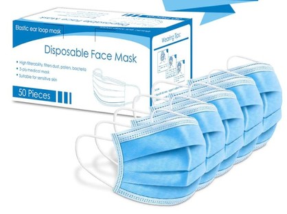 FACE MASK -  Disposable 3ply (Box of 50)