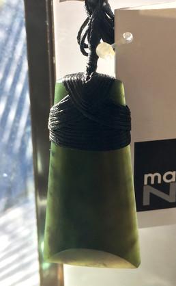T217 New Zealand Bound Greenstone Toki (6cm)