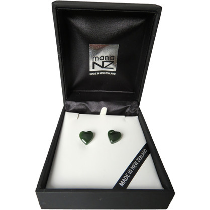 NN5055 Greenstone Heart Studs