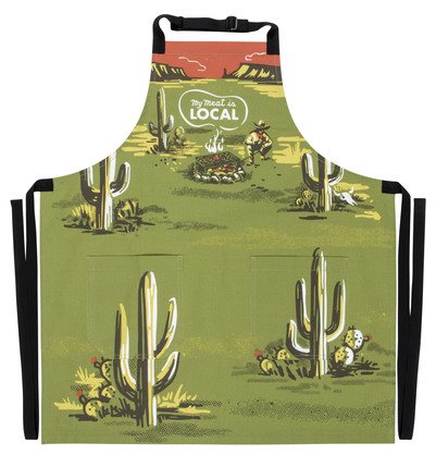 WW811 - APRON - My Meat Is Local