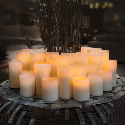 ENJOY PLATINUM - Classic Ivory Flameless Candles